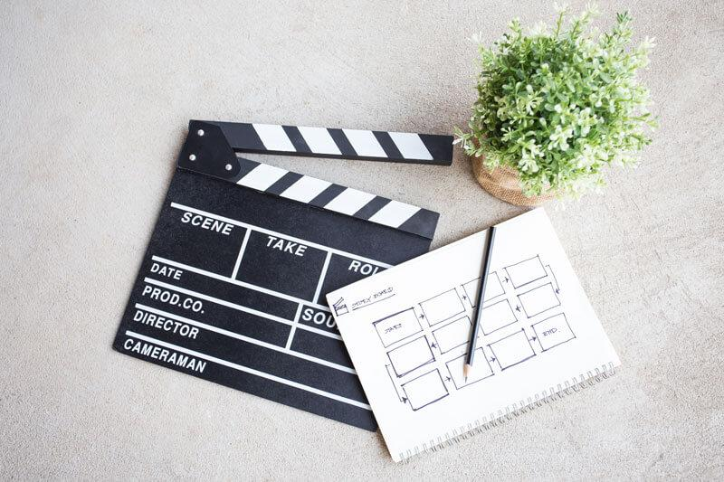 clapper board with storyboard iStock 637986198 800px