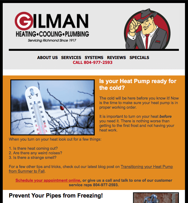 Gilman -- Heating - Cooling - Plumbing