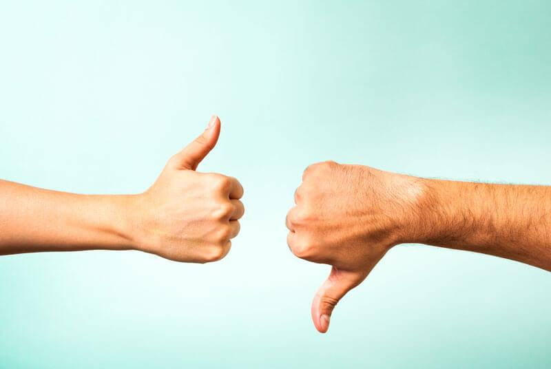 thumbs up and down iStock 176431462 800px 1
